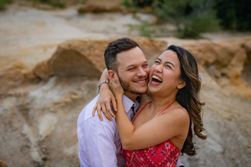 couple laughing colorado photographer