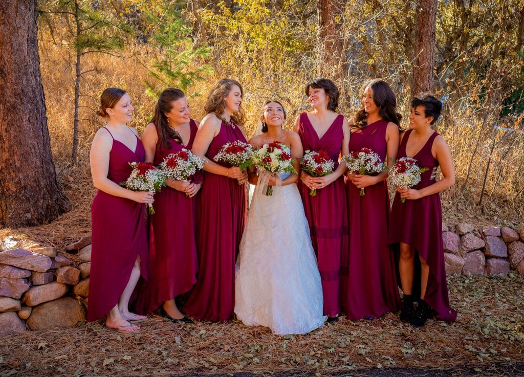 bridesmaids-happy-with-bride-colorado-wedding