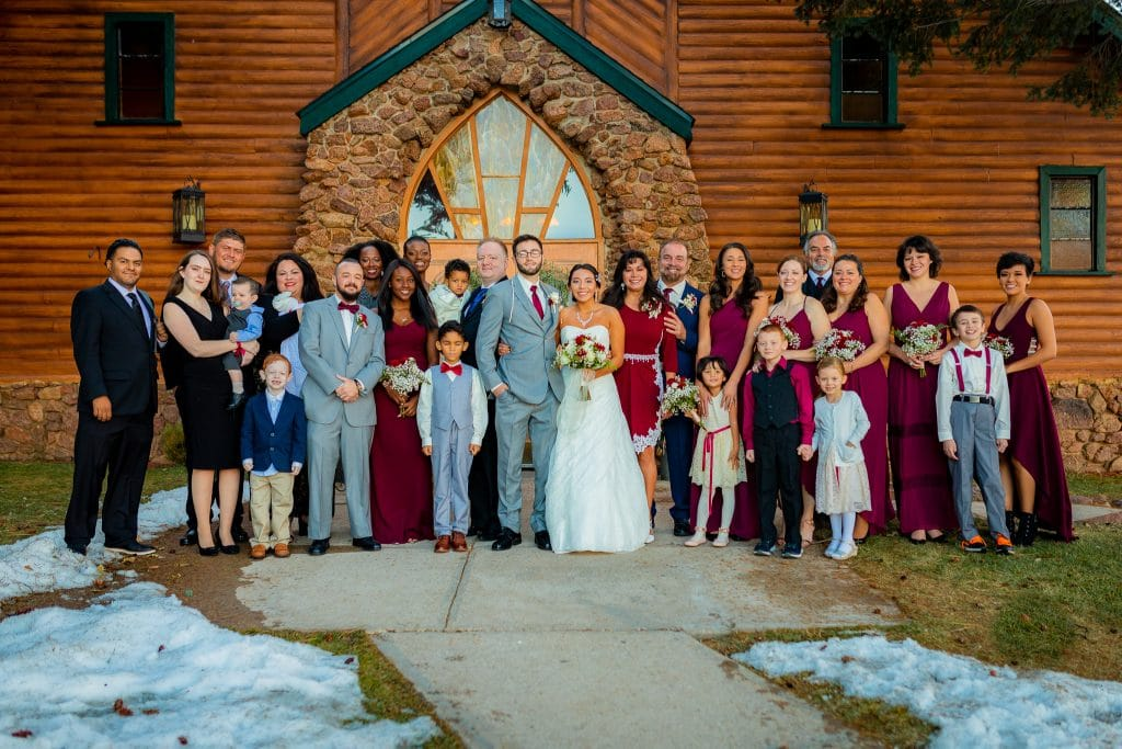 family-portrait-at-pinecrest-rustic-colorado-wedding-venue
