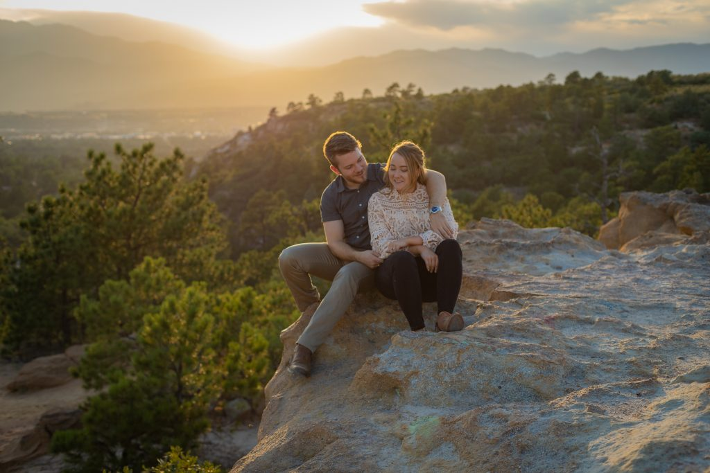 Engagement in the Mountains in Colorado Springs