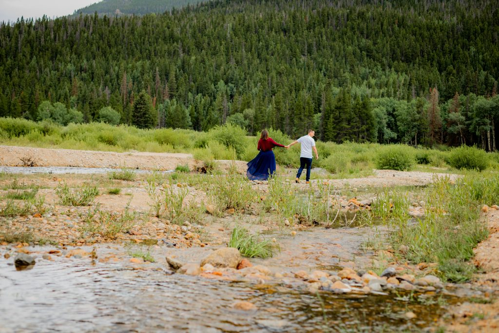 portraits along a stream in rocky mountain national park