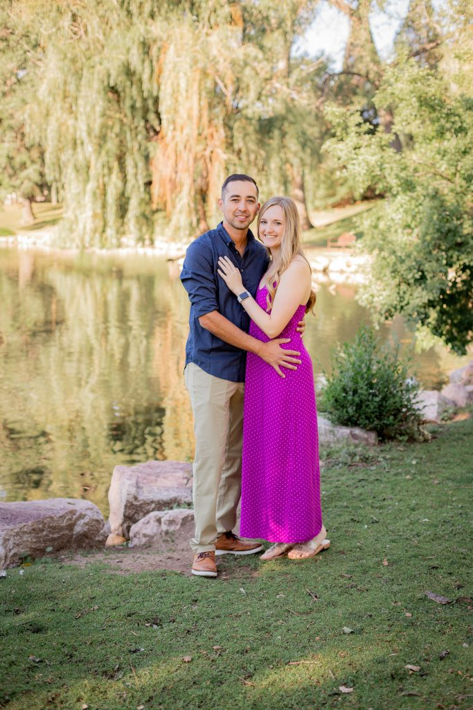 engagement portraits at monument valley park