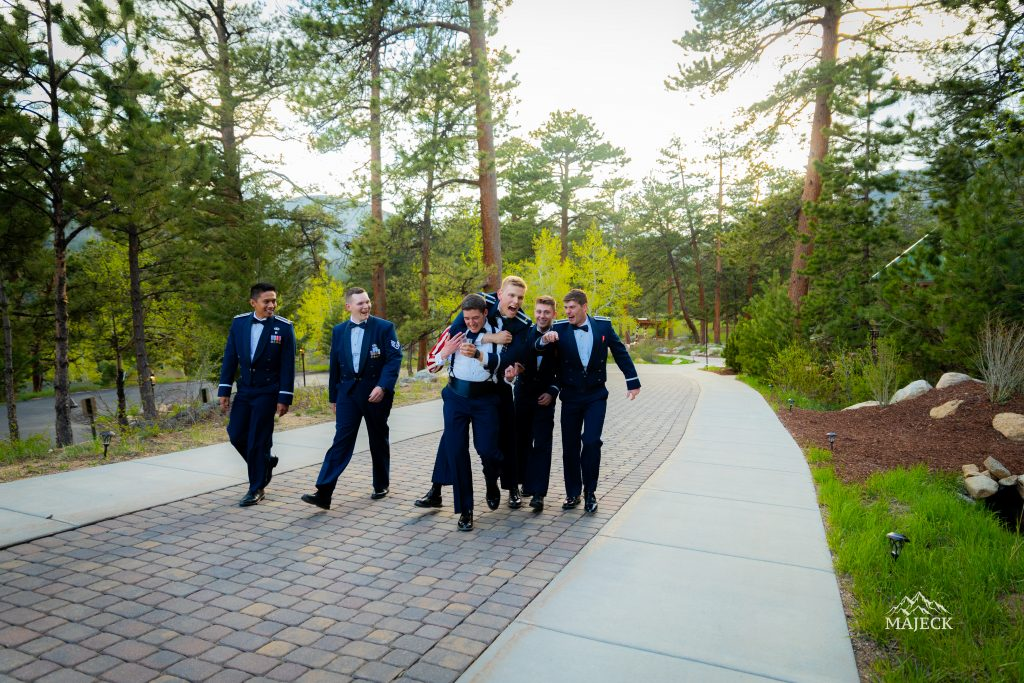 groomsmen-playing-around-candid-portrait