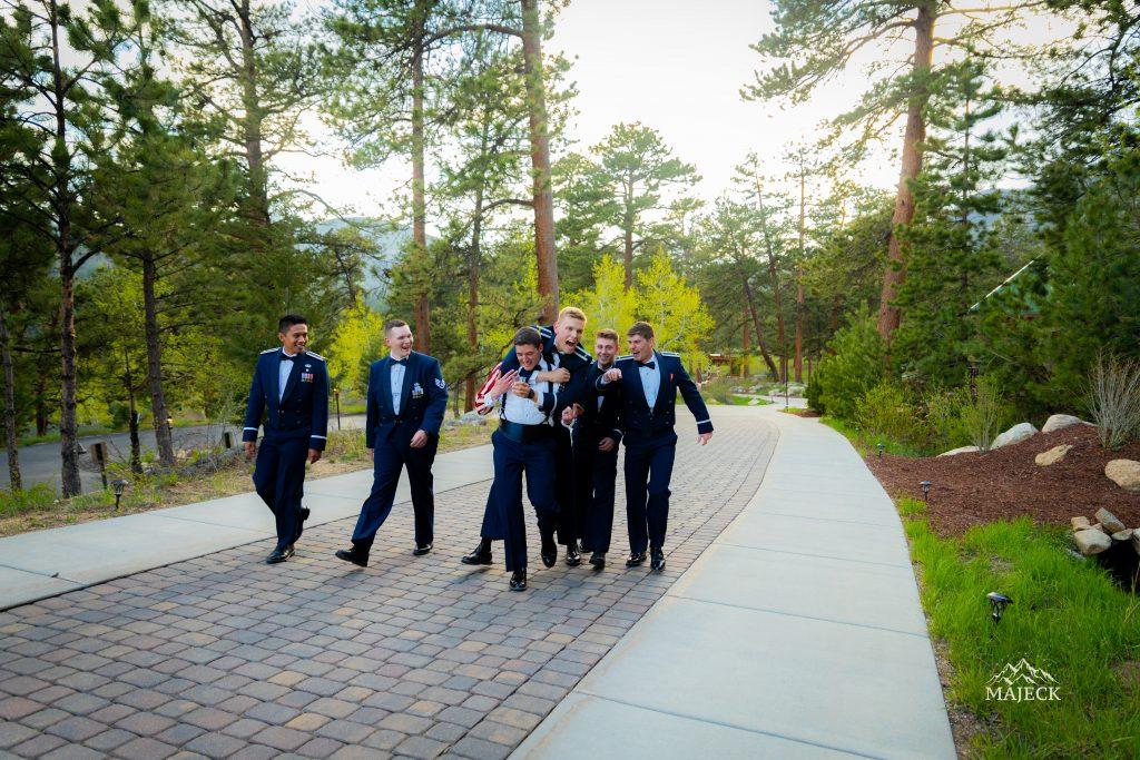 groomsmen-playing-around-candid-portrait