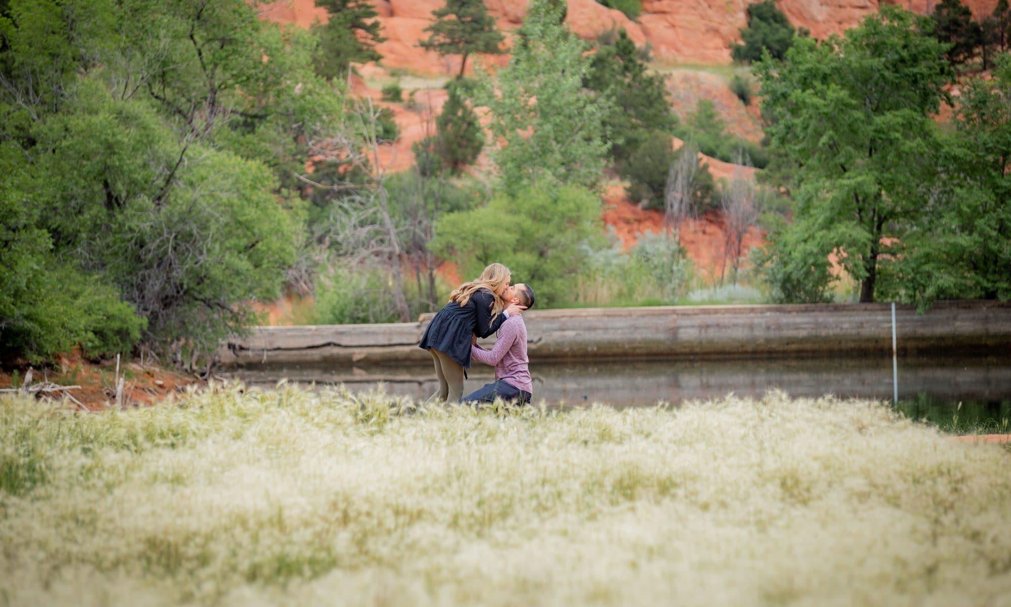surprise proposal at red rocks