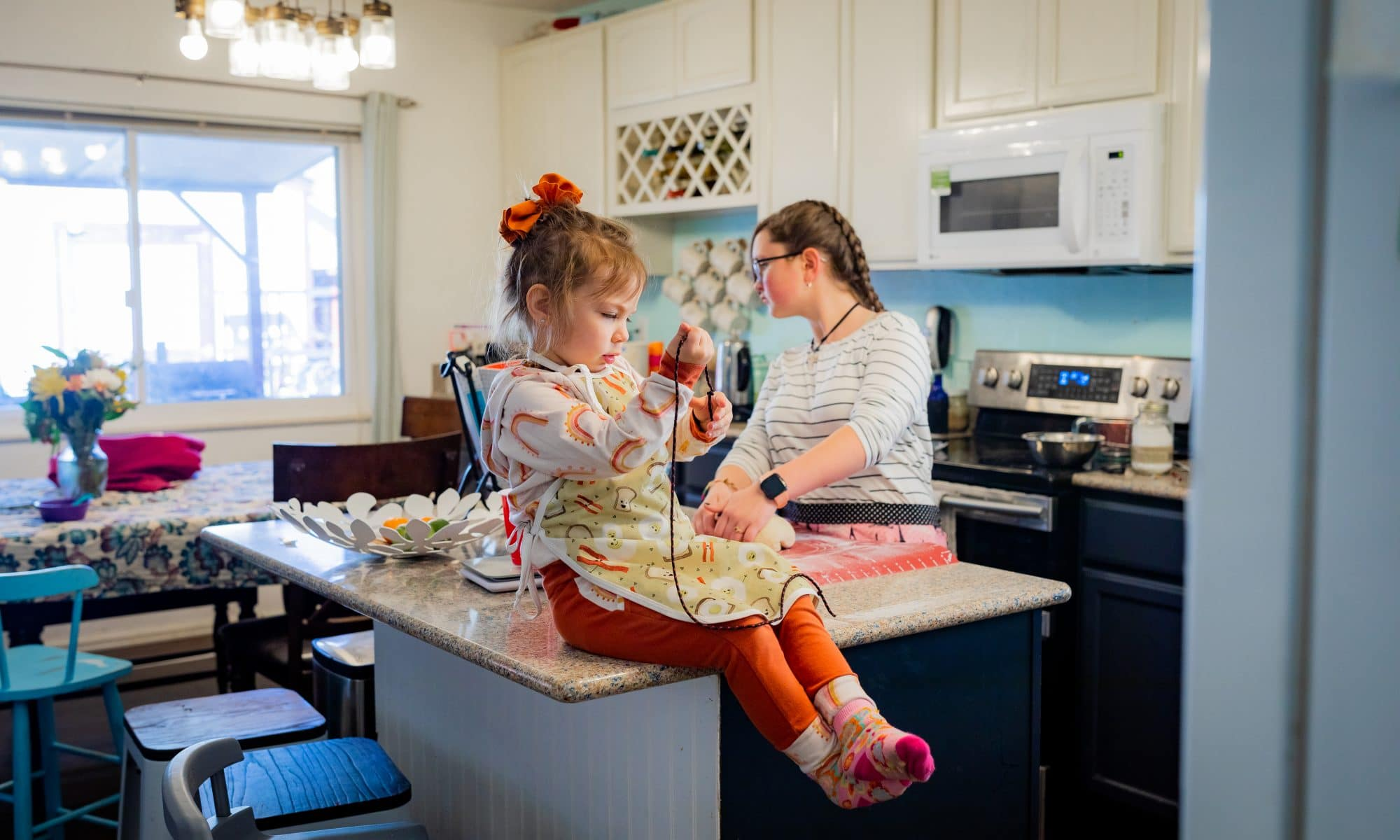documenting our family baking girls in the kitchen