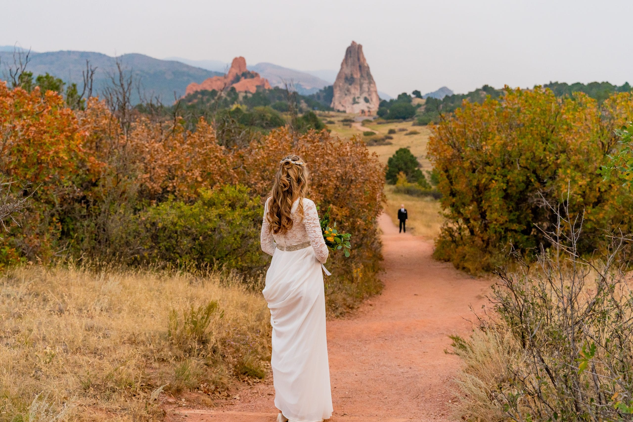 The Aisle Path at Garden of the Gods for an elopement