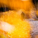 Fall Portraits of a couple in Rocky Mountain National Park