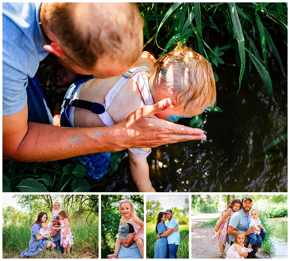 Summer Photos during a family session at the Creek in Colorado