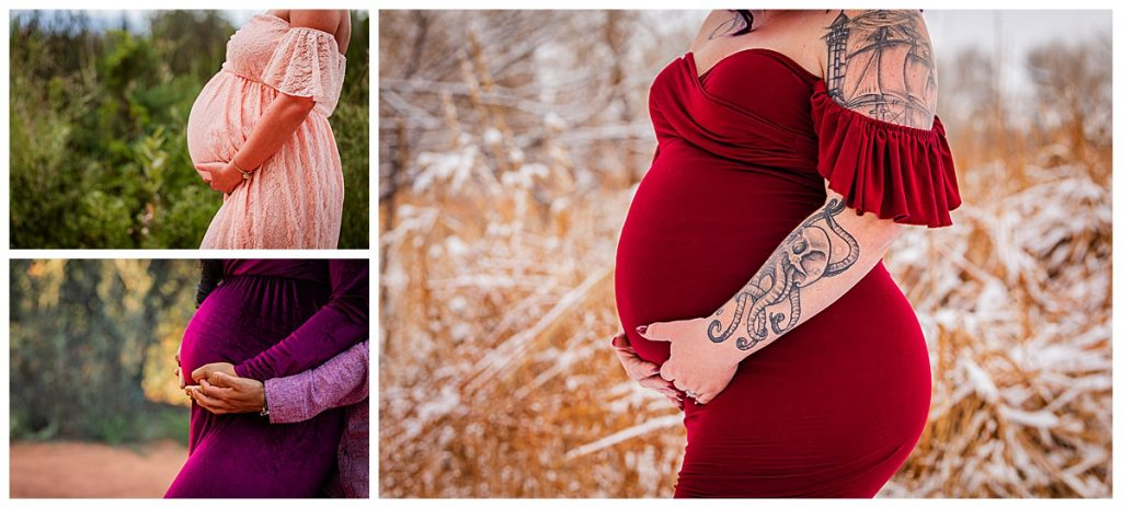 detail bump photos of colorado springs maternity portraits