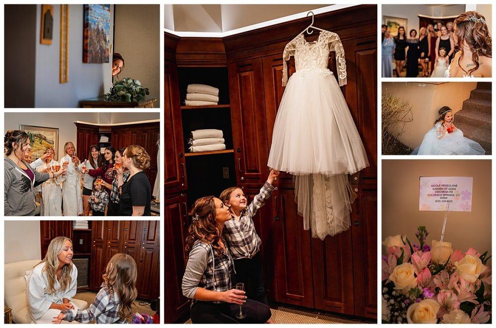 Girls Getting ready wedding photos
