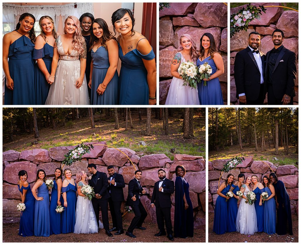 Wedding party at Woodland Park