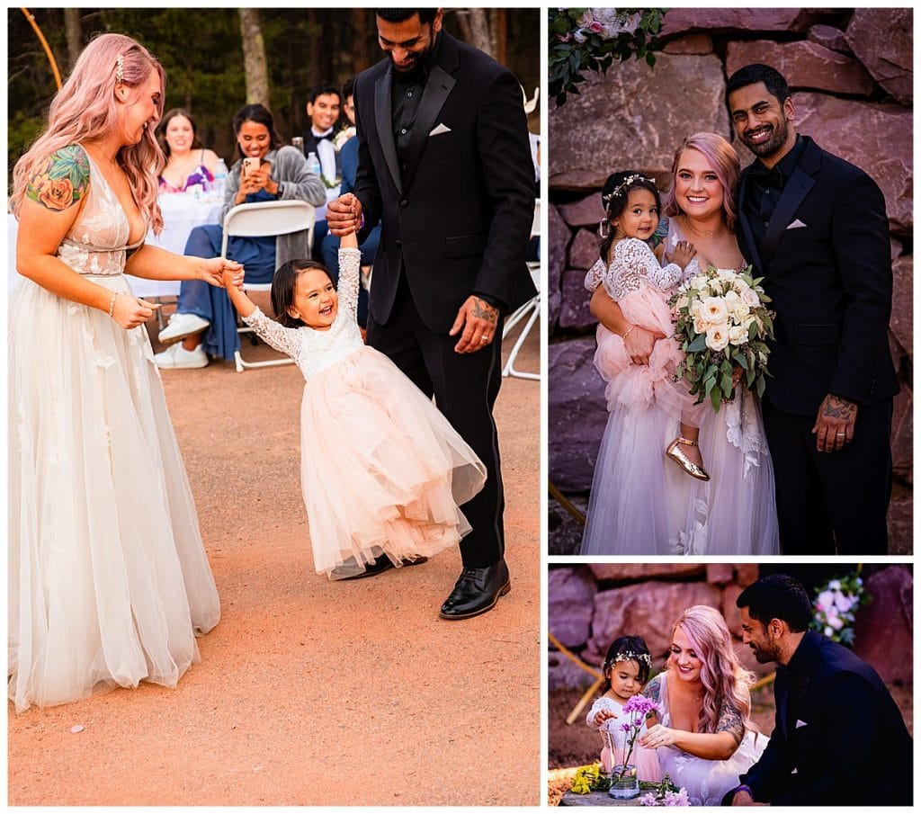 The couples unconditional love for their daughter, they wanted to make sure she was included in every aspect of their special day.