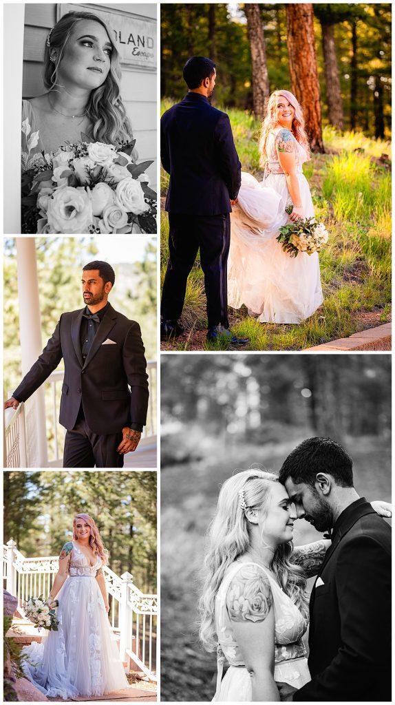 Bride and Groom Romantics at Woodland Park