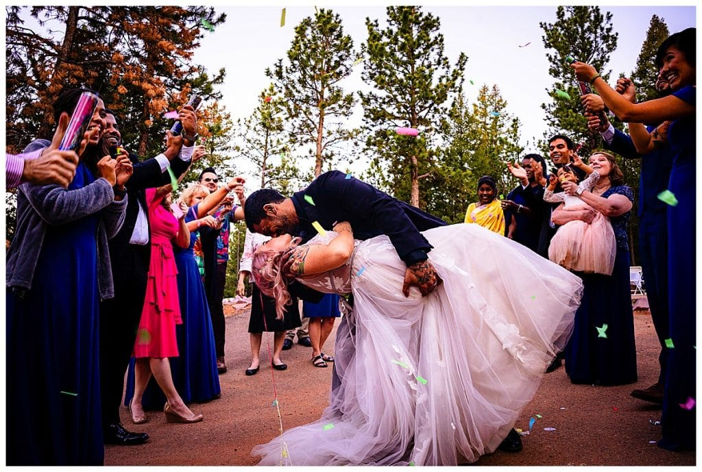 The unconditional love just explodes in this photo from not only the couple but their families too!