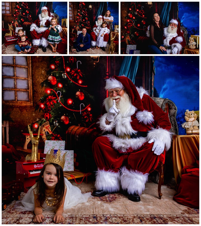 Santa Photos Fine Art Style in Colorado Springs Photo Studio